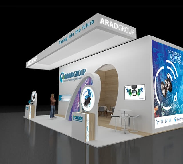 Booth structure and design - for Arad group